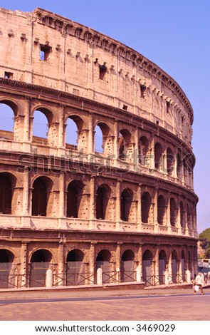 Il Colosseo also known as Flavian Amphitheatre, Rome's famous landmark