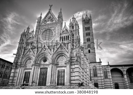 Il Duomo and Campanile, Siena, Italy - stock photo