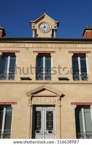 Ile de France, old city hall of Verneuil Sur Seine
