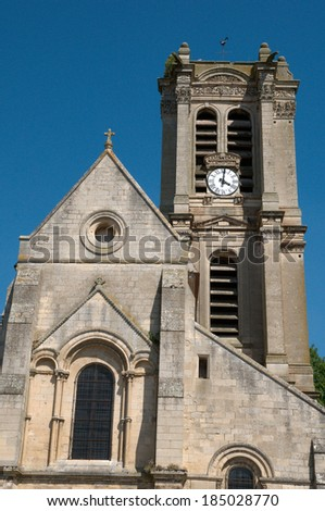 Ile de France, the picturesque church of Chars
