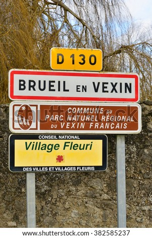 Ile de France, the picturesque village of Brueil en Vexin