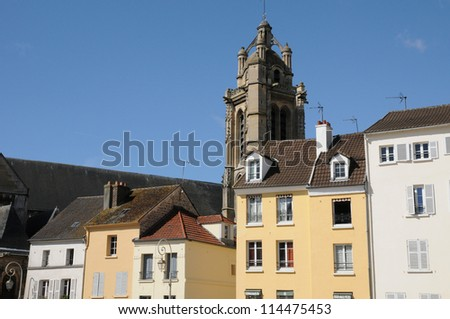 Ile de France, the town of Pontoise in Val d Oise