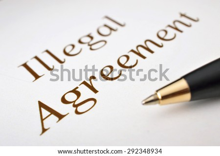 Illegal agreement  - stock photo
