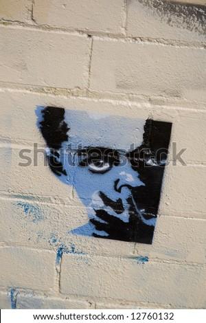 illegal graffiti Newtown Australia - stock photo