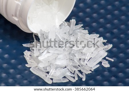 Illegal substance Methamphetamine also known as crystal meth