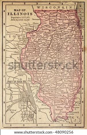 Illinois Map Stock Images RoyaltyFree Images Vectors - Illinois maps
