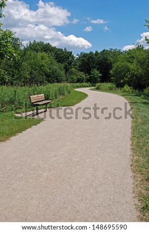 Illinois Forest Preserve Path