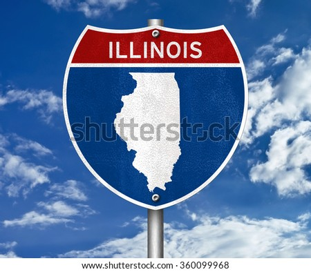 Illinois interstate sign concept - stock photo