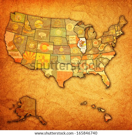 Stock Images Similar To ID Word Cloud Map Of Illinois - Us word map illionis