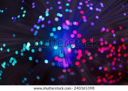Illuminated background lights - stock photo