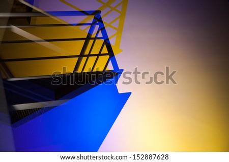 Illuminated Balcony - stock photo