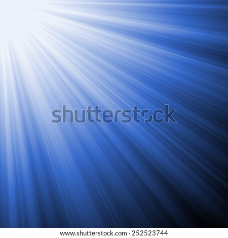 Illuminated Blue Light Rays  - stock photo