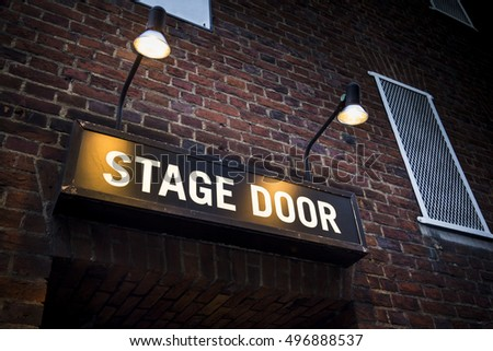 Illuminated sign at theatre in London's West End