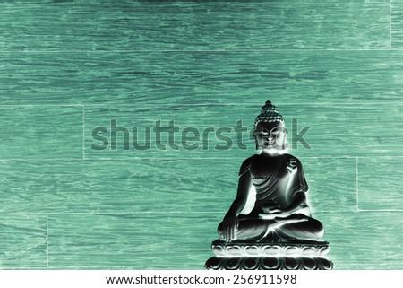 Illumination of Buddha - Peaceful mind - stock photo