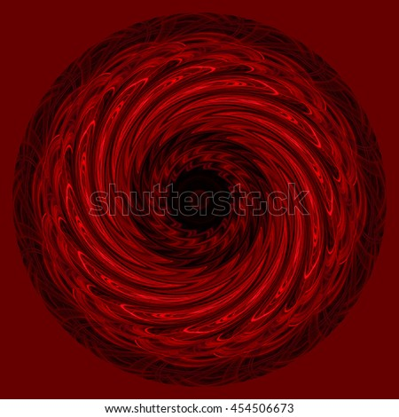 illusion black red white intricate design detailed kaleidoscope pattern background backdrop oval circle vivid dark