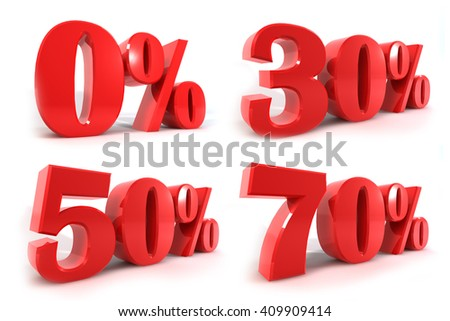 illusion 3d rendering style about Business & Finance, element set isolate high resolution on white background - stock photo