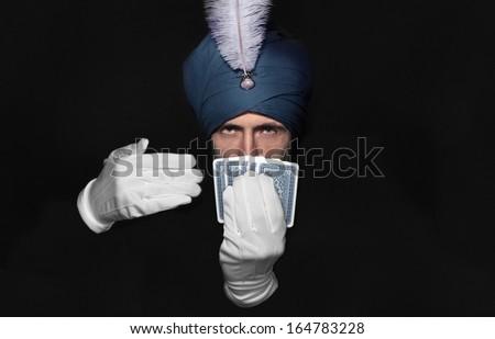 illusionist - stock photo