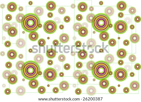 illustrated abstract background with circles