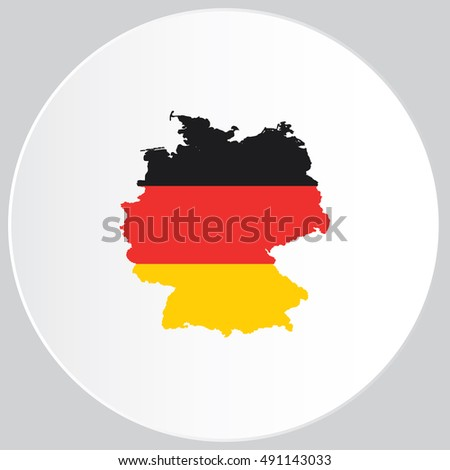 Illustrated Country Shape with the Flag inside of Germany