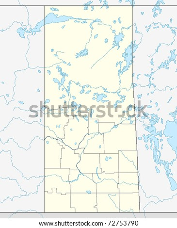 illustrated map of canadian or canada province of saskatchewan