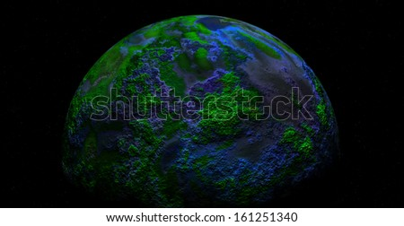 illustrated planet earth - stock photo