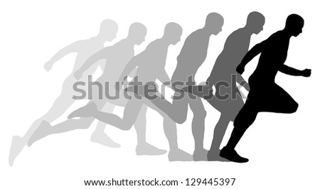 illustrated Sequence of a man running