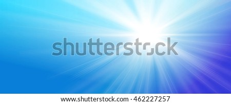 illustrated streaming sunlight illustrated on blue sky background