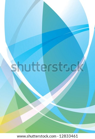 Illustrated subtle background in greens and blues ideal desktop