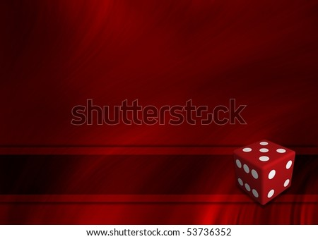 Illustrated template with an isolated die - stock photo