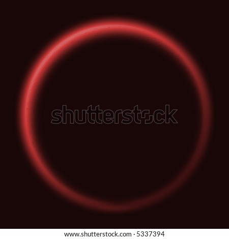 Illustrated version of the sun with an outer glow at a solar eclips - stock photo