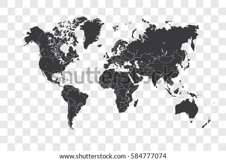 Illustrated world map selected country shape stock vector 586041161 illustrated world map with the selected country shape of haiti gumiabroncs Gallery
