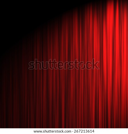 illustration  abstract background red stage curtain