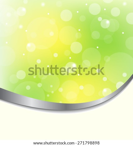 Illustration abstract eco background light green - raster - stock photo