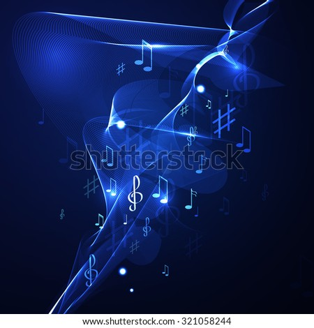 illustration abstract music background line neon - stock photo