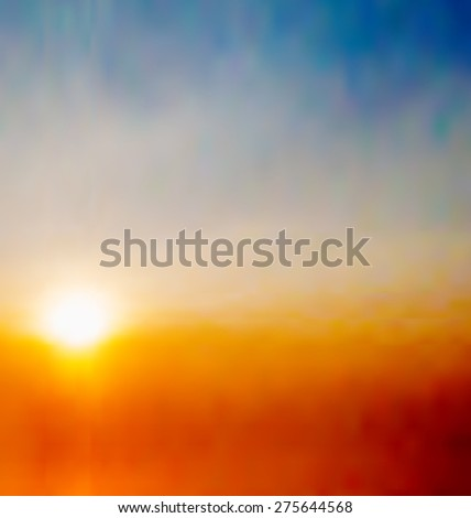 Illustration abstract natural background with sunrise - raster - stock photo