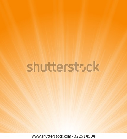 Illustration Abstract Orange Background Sun Rays Vibrant - raster - stock photo