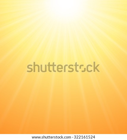 Illustration Abstract Orange Sky Background Sun Rays Vibrant - raster - stock photo