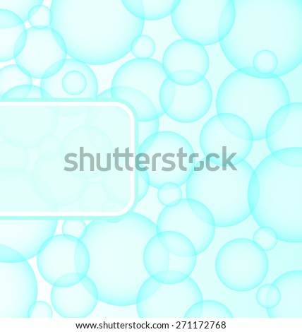 Illustration abstract soap ball with bubble - raster  - stock photo