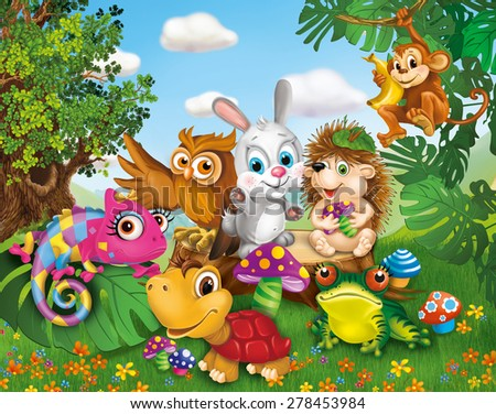illustration, animals (children's characters)