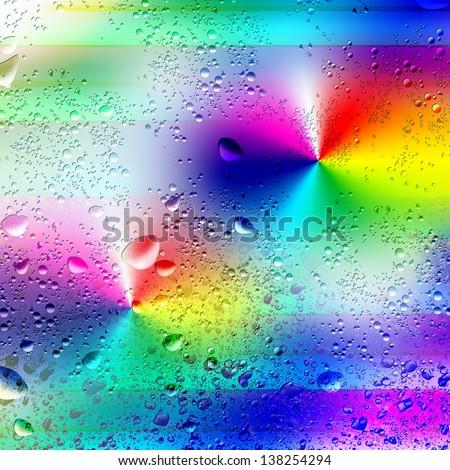 Illustration background. Droplets of rain. Line. - stock photo