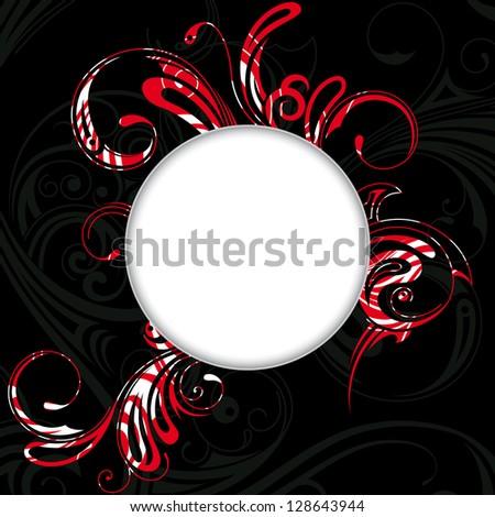illustration  background in gothic style - stock photo