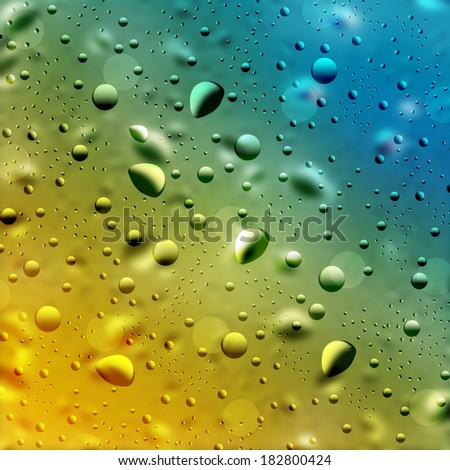 Illustration background with water drops - stock photo