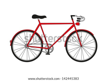 Illustration bicycle on a white background