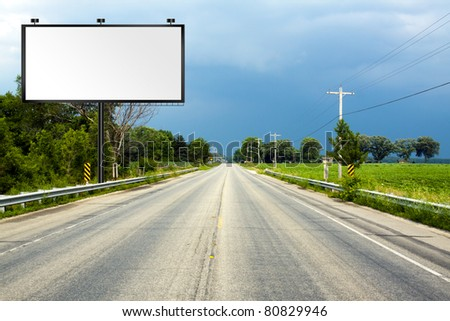 Illustration: Big Tall Billboard on road - stock photo