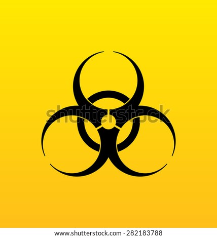 Illustration bio hazard sign, danger symbol warning - raster - stock photo