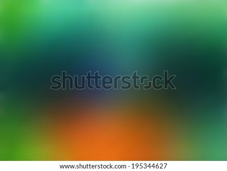 Illustration blurred abstract background of green and orange colors