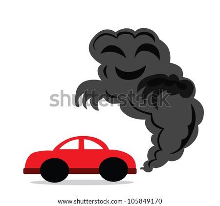 Illustration - Carbon monoxide.You drive a car that you made carbon monoxide. - stock photo
