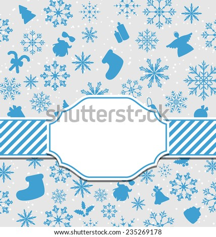 Illustration Christmas greeting card with copy space for your text - raster - stock photo
