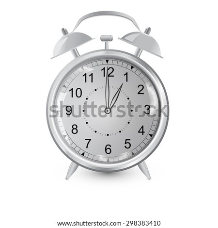 Illustration  clock on a white background in shades of gray - stock photo