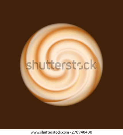 Illustration coffee and milk cream texture - raster - stock photo